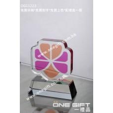 OG11223 半透明彩印水晶連水晶底座