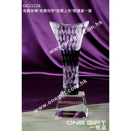 OG11226 高身水晶獎盃