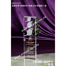 OG11227 葉形水晶紀念水晶座