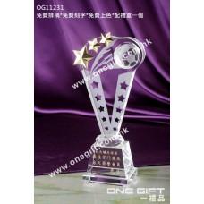 OG11231 立體足球水晶連星星配件