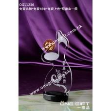 OG11236 音符水晶獎座
