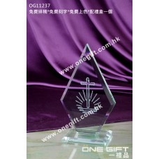 OG11237 尖形玻璃獎座