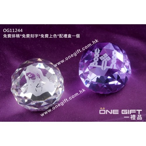 OG11244 全透明水晶紙鎮