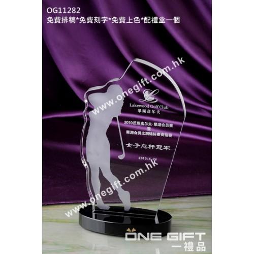 OG11282 高爾夫球水晶獎座