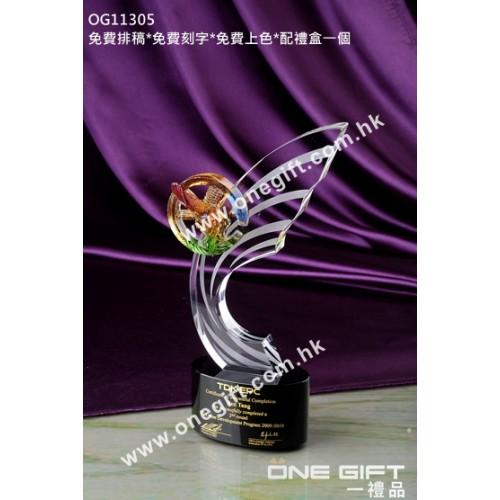 OG11305 琉璃飛鷹水晶座