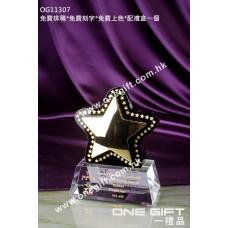 OG11307 金屬星星水晶獎座
