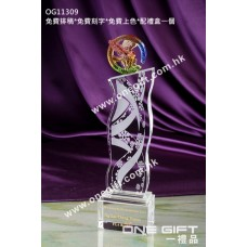 OG11309 波浪形水晶連琉璃鷹配件