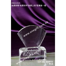 OG11315 扇形/貝殼形透明水晶座