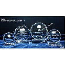 OG2032  鑽石切割水晶獎座  Round Diamond Shape Crystal