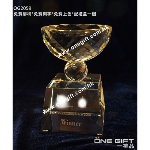 OG2059 全透明水晶獎盃 Crystal Trophy
