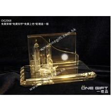 OG2068 維港景水晶咭片座 crystal cardholder