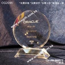 OG2095 圓形水晶紀念座 Circle Crystal Stand