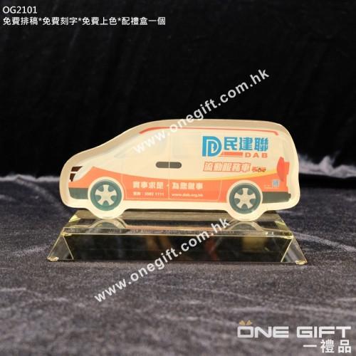 OG2101 彩色印刷水晶紀念品