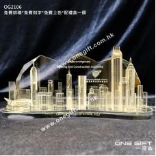 OG2106 立體香港景色水晶攞設