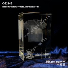 OG2145 3D鐳射內雕全透明紀念水晶