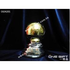 OGN201 高級實心足球獎座