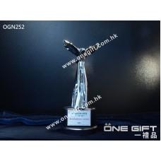 OGN252 高級實心飛鷹獎座