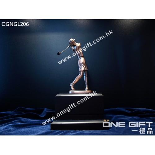 OGNGL206 高級女子高爾夫球獎座