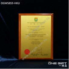 OGWS8S9-HKU 香港大學 The University of Hong Kong 診所掛牆木證書
