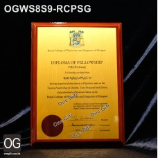OGWS8S9-RCPSG Royal College of Physicians and Surgeons of Glasgow 醫務所掛牆木證書