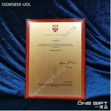 OGWS8S9-UOL The University of London 診所掛牆木證書