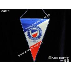 OGF22 全彩印製硬身三角紀念旗 適用於各種場合