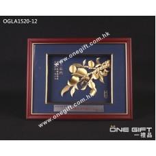 "OGLA1520-12 立體24K金箔 ""桃李滿門"" 掛畫"