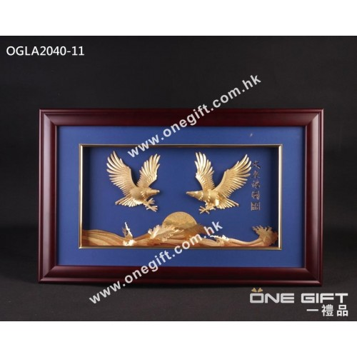 "OGLA2040-11 立體24K金箔畫""大展鴻圖"" 大幅掛畫"