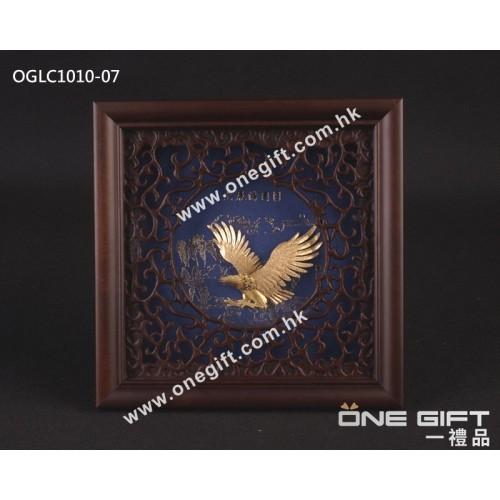 "OGLC1010-07 立體24K金箔畫 ""大展鴻圖"" 掛畫"