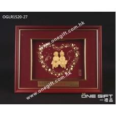 "OGLR1520-27 立體24K金箔 ""白頭到老"""
