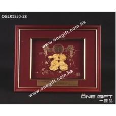 """OGLR1520-28 立體24K金箔 """"白頭到老"""" 掛畫"""