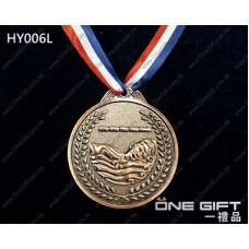 HY006L 65mm直徑游泳獎牌