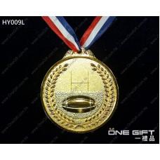 HY009L 65mm直徑欖球獎牌